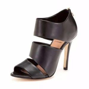Ava & Aiden Pixie Cut Out Black Heels Zip 8.5M